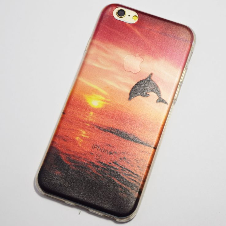 Dolphin Jumping at Sunset on the Beach iPhone 6 / iPhone 6S Soft Case