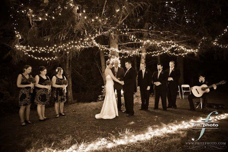 candle lit outdoor wedding