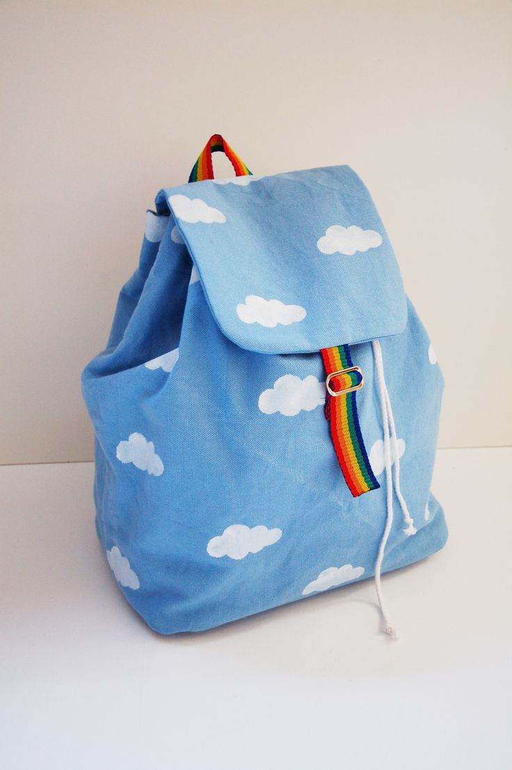 Taking inspiration from the ...partly cloudy... Pinterest board, a cute  backpack for all weathers.