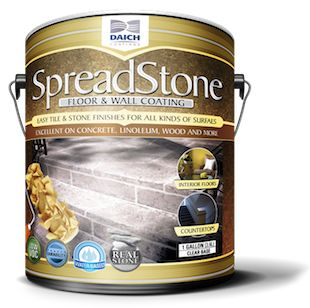 SpreadStone™ is a versatile pre-mixed stone coating, looks like natural stone when applied, pre-mixed, flexible/crack resistant, super low VOC