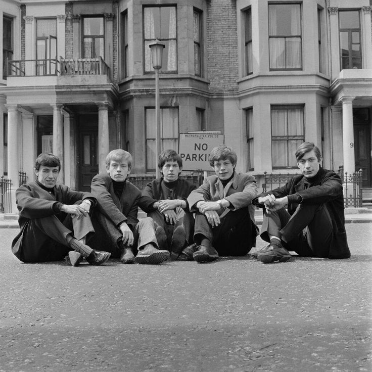 The first photo ever taken of the Rolling Stones. 1962