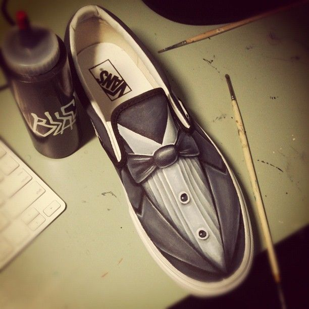 Custom Shoes by ~JordanMendenhall - classy tuxedo shoes