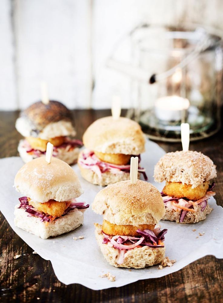 Scampi Sliders with Pink Slaw. Food Photography. See more at http://www.magenta.org.uk/whitby-seafoods-food-photographer/
