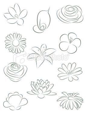 Blommor Teckna Flowers