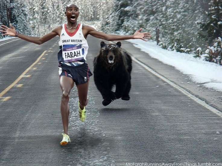 For all the Canadian runners! Mo Farah Running Away From Things