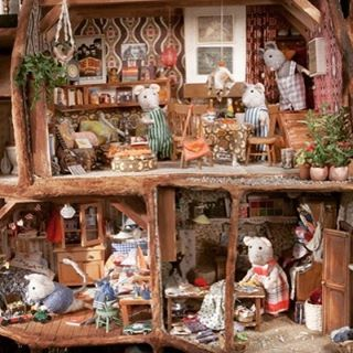 Een kijkje in Het Muizenhuis #muizenhuis #hetmuizenhuis #schaapman #karinaschaapman #studioschaapman #poppenhuis #miniaturen #muizen #woonkamer #slaapkamer #naaikamer #knutselen #kinderboeken #prentenboeken #boeken