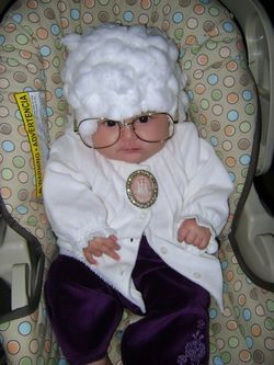 Sophia from the Golden Girls. This is the best Halloween costume ever! :)