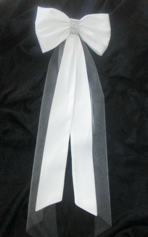 Elegant Pew Bows with Rhinestones and Tulle  by shannonkristina, $79.00