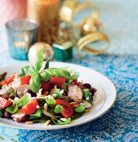 Andebryst med æble-bønne-salat