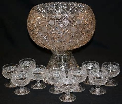 vintage punch bowls sets - Yahoo Image Search Results