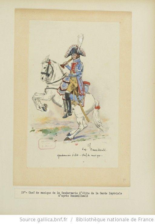 [Grenadiers-gendarmes, gendarmerie d'élite de la garde des consuls et de la garde impériale, 1793-1815 / Notes et aquarelles par E. Fort.] - 33