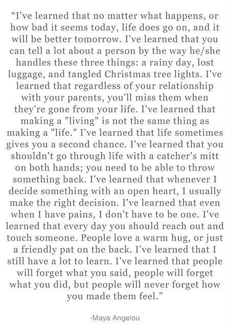 My favorite quote ~~ Maya Angelou