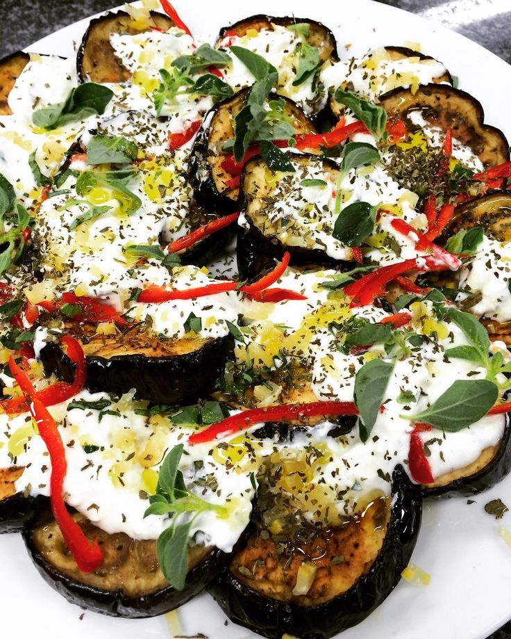 That's that old aubergine favourite with preserved lemon and chilli yoghurt. #testkitchen by ottolenghi