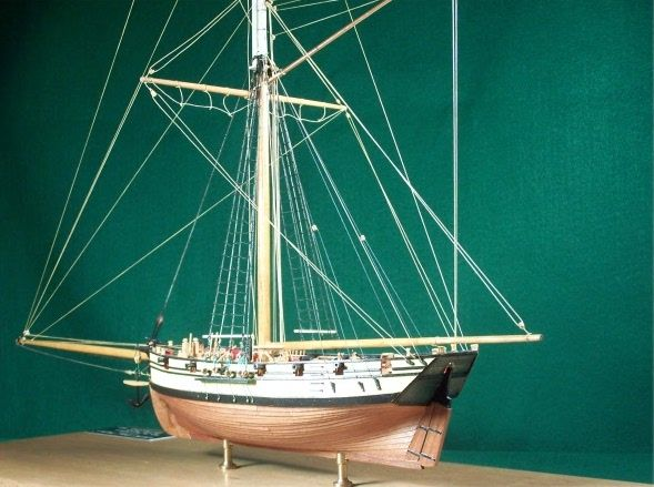 """A lovely model of """"Seaflower"""" by Robert Squarebriggs"""