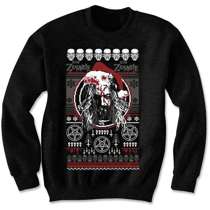 Rob Zombie Mens Sweatshirt: Bloody Santa Wholesale Ref:RZSWT01MB