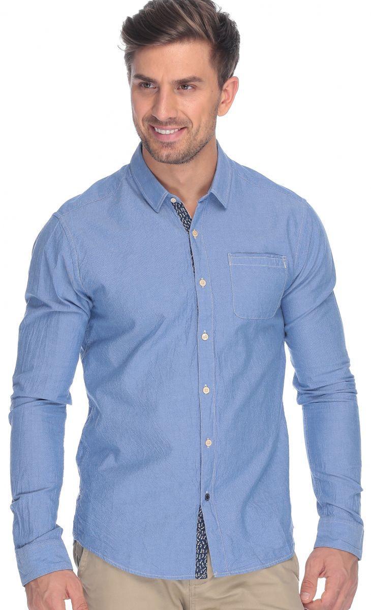 اشتري سكوتش اند سودا قميص قطن ازرق قبة قميص -رجال - بلايز/ تيشيرتات | السعودية | سوق