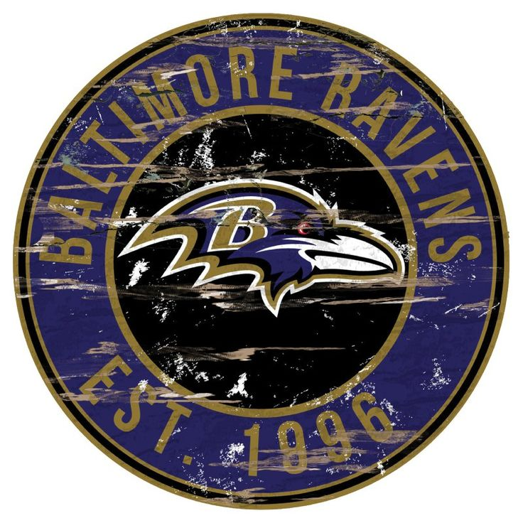 Fan Creations NFL Distressed Round Sign N0659BAL