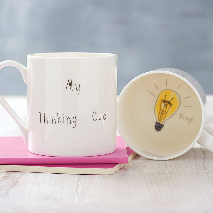 'my thinking cup' mug by death by tea | notonthehighstreet.com