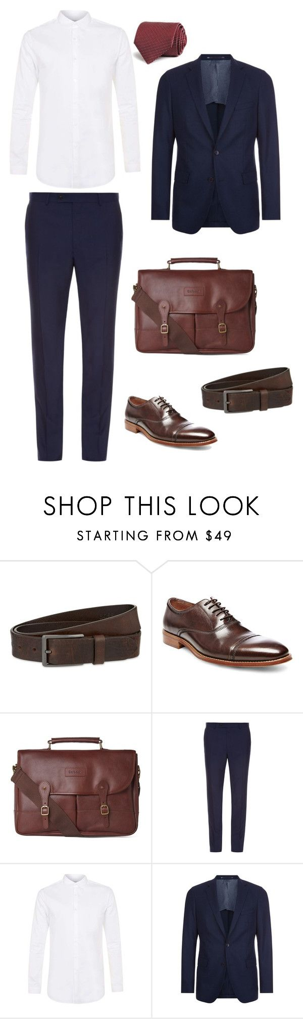 """Look 1 - WILSONS"" by kirravanblanken on Polyvore featuring HUGO, Steve Madden, Barbour, Mathieu Jerome, Topman, BOSS Hugo Boss, Canali, men's fashion and menswear"