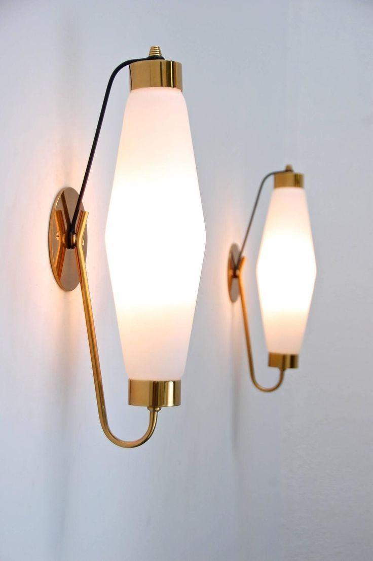 Italian Sconces In The Manner Of Stilnovo, Part Of Antique Wall Sconces U0026  Lighting At Lumfardo. Lamps And Wall Lighting From Italy, France, Germany,  ...