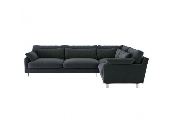 Cuscino Dark Grey Velvet Left Arm Corner Sofa Corner Sofa Buy Sofa Sofa