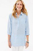 linen side-button tunic | J.Jill