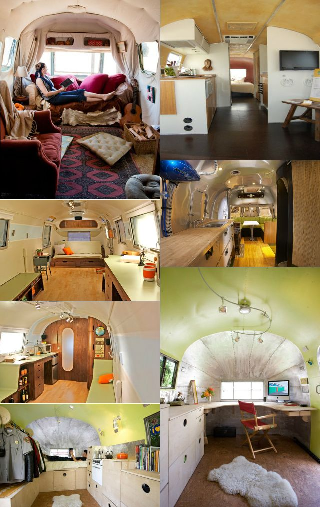 Inspiration for small spaces -- airstream interiors!  No, really.