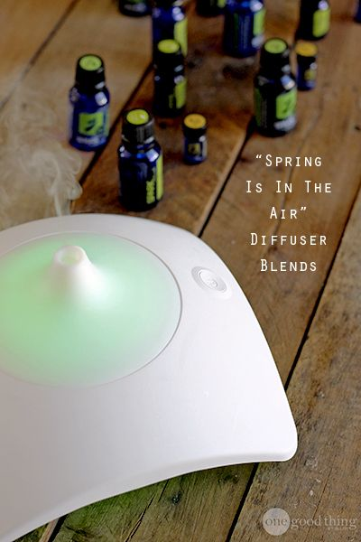 """Bring springtime indoors with these delicious and delightful essential oil """"recipes"""" for your diffuser! PLUS, enter to win a Springtime Diffuser Kit!"""