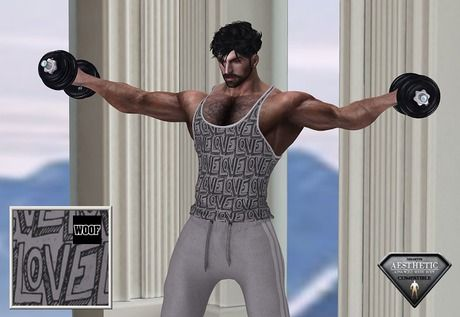 Woof! Tank Top Gray Love 2 free