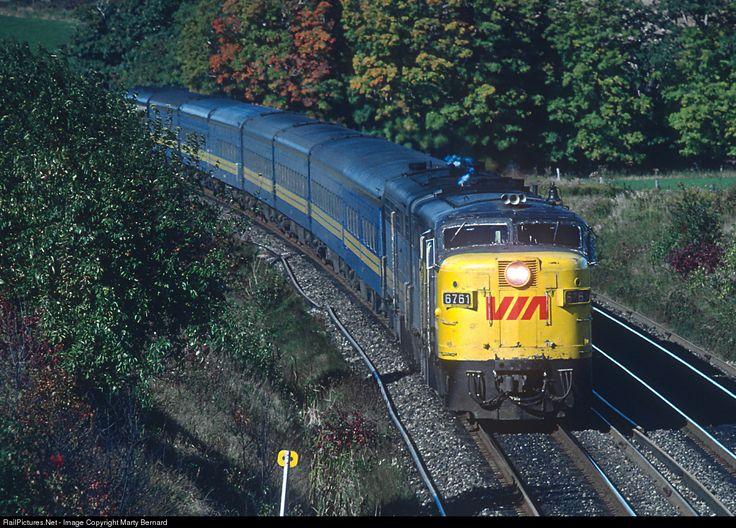 RailPictures.Net Photo: VIA 6761 VIA Rail MLW FPA4 at Near Port Hope, Ontario, Canada by Marty Bernard
