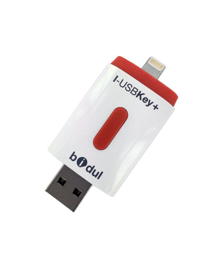 Enfin une clé USB pour votre iPhone ou votre iPad sous licence Apple MFI  Bidul : Startup de la FrenchTech i-USBKey+ 128 GB pour iPhone et iPad Lightning