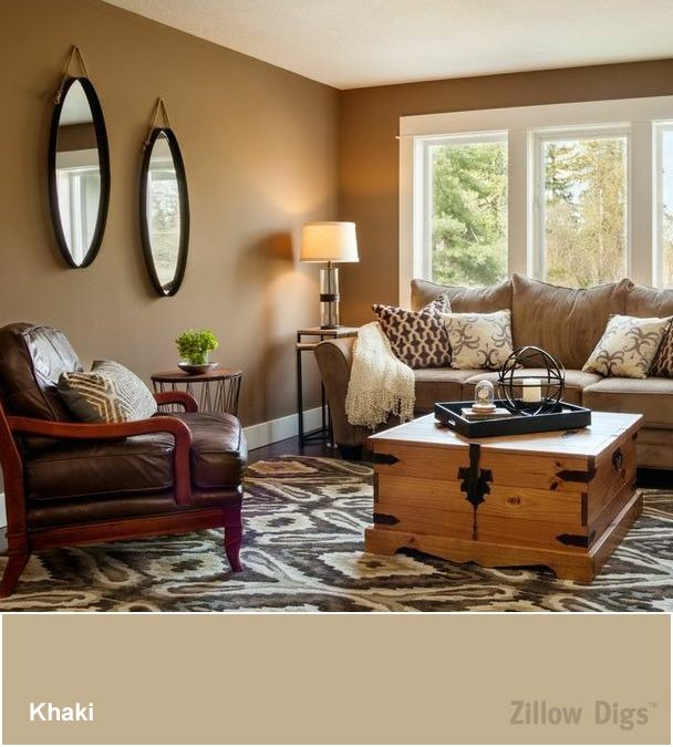 Delightful Room Color Trend: Khaki Is The New White. Living Room Wall ...