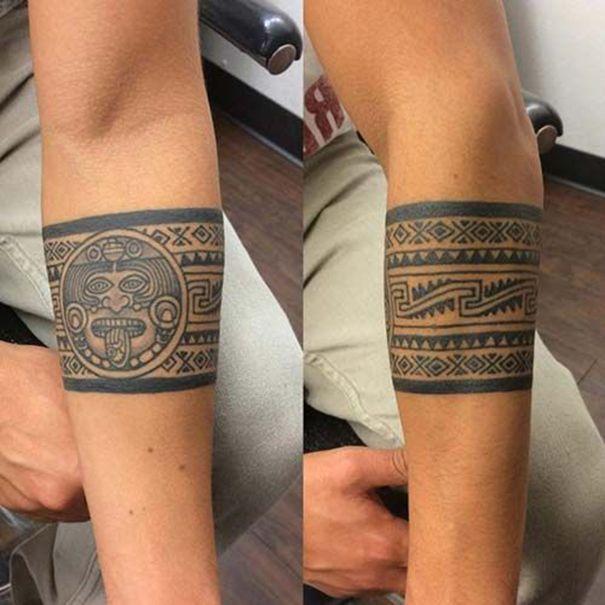 Aztec Tribal Tattoos Forearm Marquesan Tattoos In 2020 Aztec Tribal Tattoos Aztec Tattoo Designs Aztec Tattoo