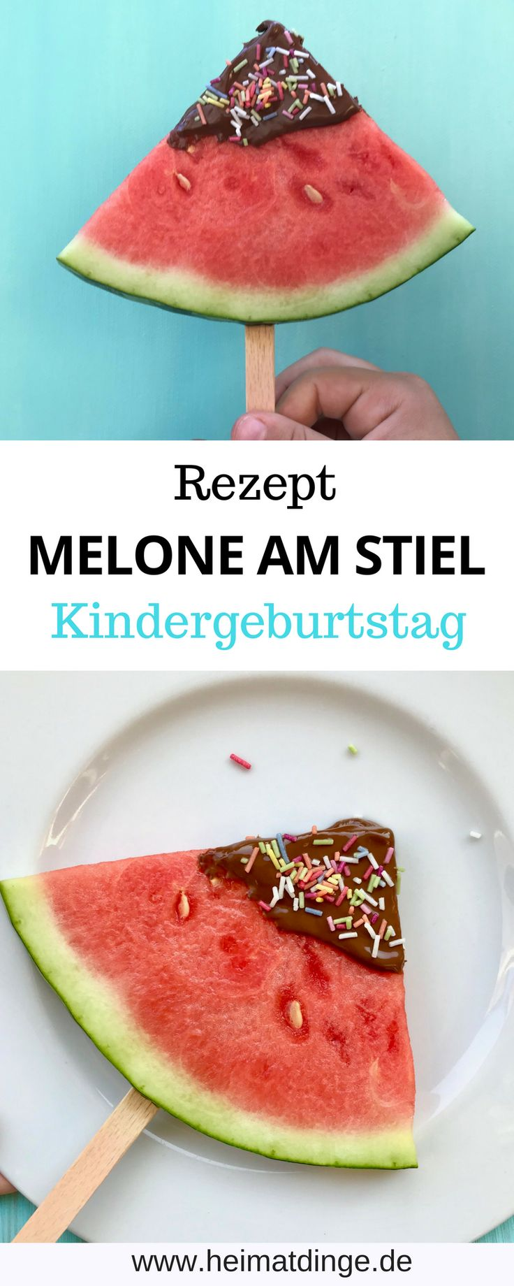 Schneller Partysnack: Melone am Stiel als Erfrischung für den Sommer