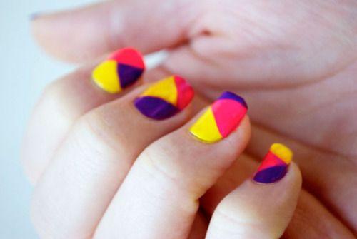 ColorblockNeon Colorblock, Nails Art Tutorials, Colors Nails, Neon Colors, Colorblock Nails, Colors Block, Neon Nails, Bright Colors, Nails Tutorials