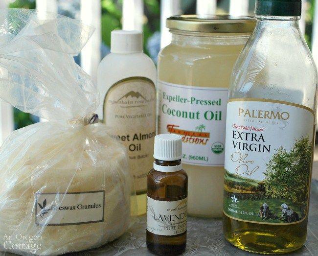 Homemade hand cream ingredients