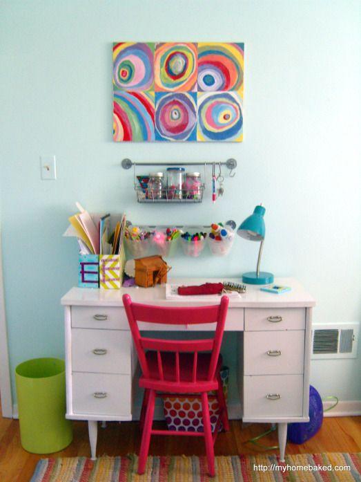 Organized desk Kids' rooms progress report | Home Baked