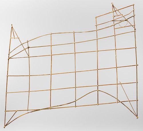 Navigational Chart (Rebbilib) [Marshallese people, Marshall Islands] (1978.412.826) | Heilbrunn Timeline of Art History | The Metropolitan Museum of Art. Relates to Navigation chart. Marshall Islands, Micronesia. 19th to early 20th century C.E. Wood and fiber.