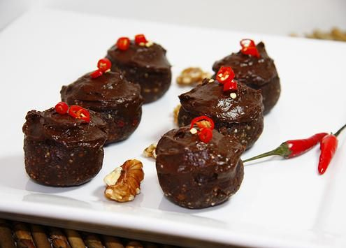 Raw Chocolate Chili Bombs | - Spicy, Sweet and loaded with health-i-fying nutrients and phytochemicals!