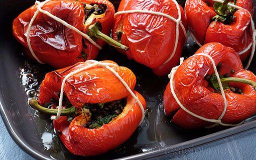 Zapékaná+červená+paprika+s+čočkou+v+dárkovém+balení