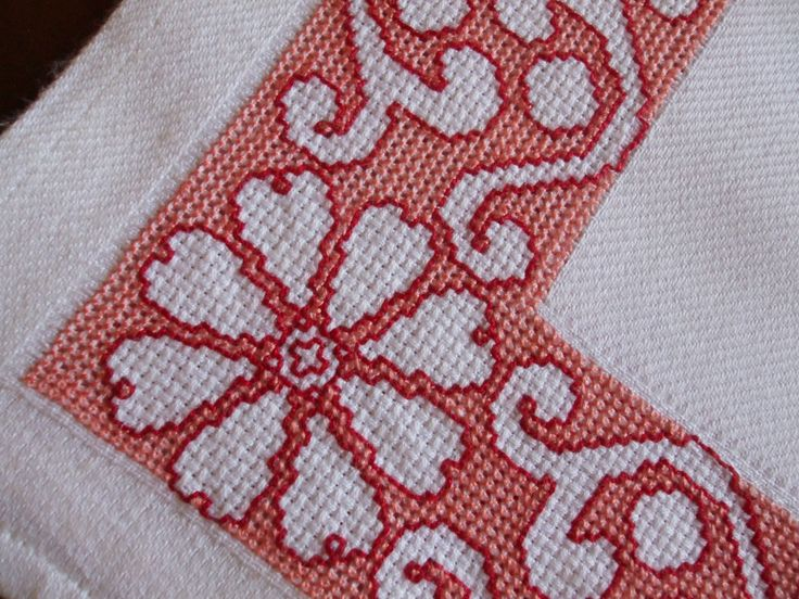 Assisi Embroidery - Cross Stitch + Holbein / Running Stitch for outlines (explained here)