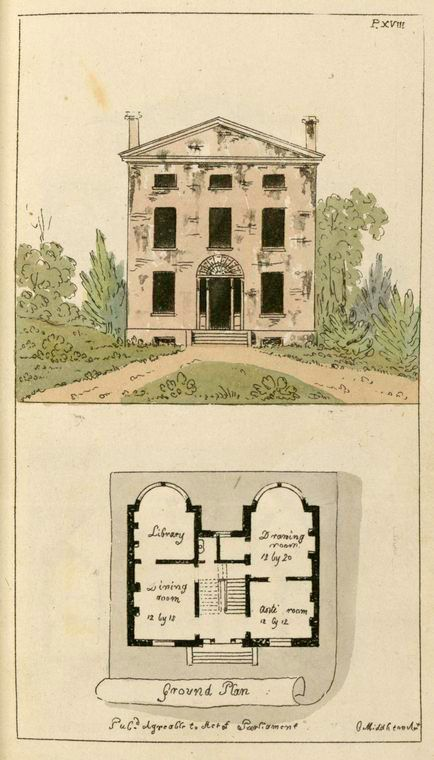 Architect and builder 39 s miscellany or pocket li house for Regency house plans