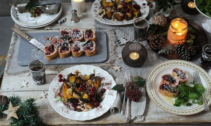 Chef Tom Hunt gives a selection of mouthwatering vegetarian Christmas recipes to rival the traditional turkey.