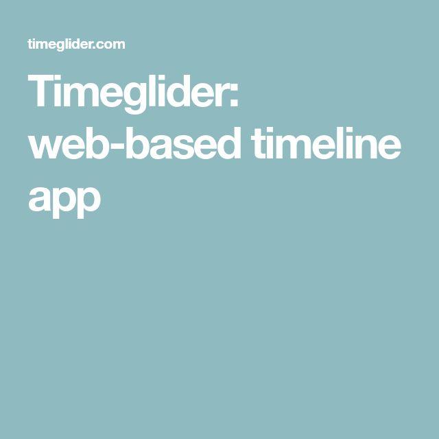 Timeglider: web-based timeline app