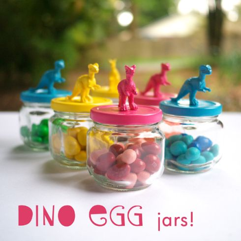 CUTE DIY Dino Jar party favors!