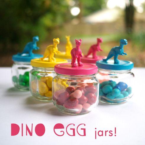 CUTE DIY Dino Jar party favors!