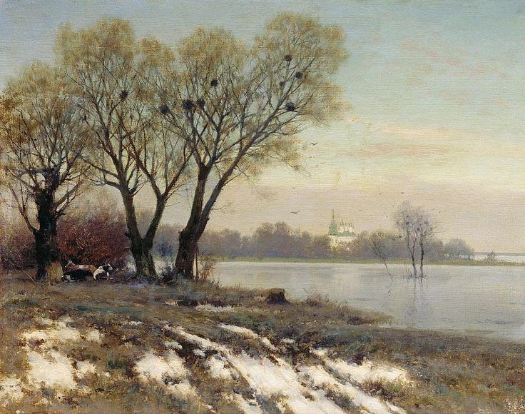 "Крыжицкий Константин Яковлевич (1858-1911 г.), ""Ранняя весна"" 1904 г."
