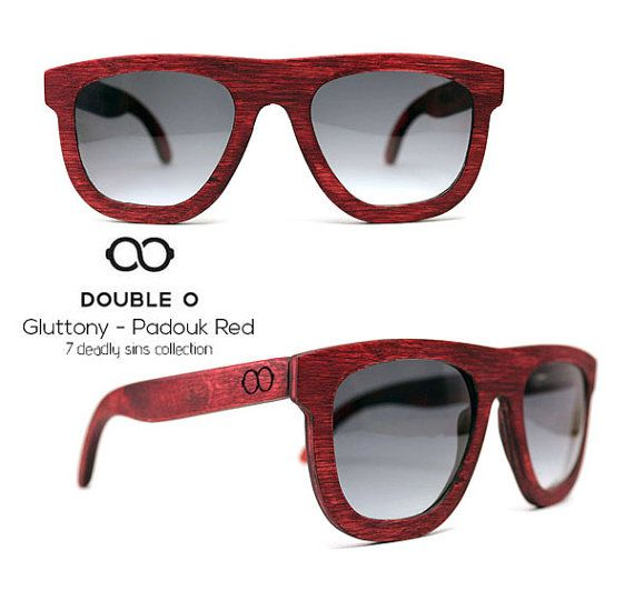 Handmade wooden sunglasses. 7 deadly sins by DoubleOwoodcrafts