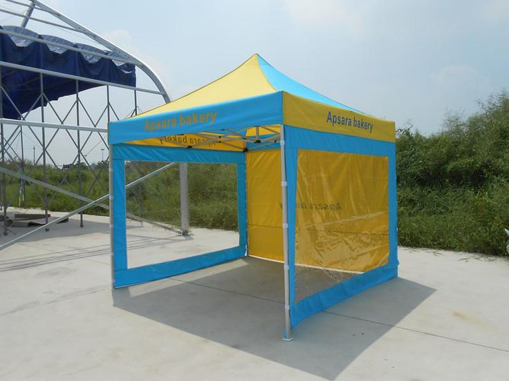 3x3M Aluminum Frame Folding Tent with Removable Transparent Sidewalls