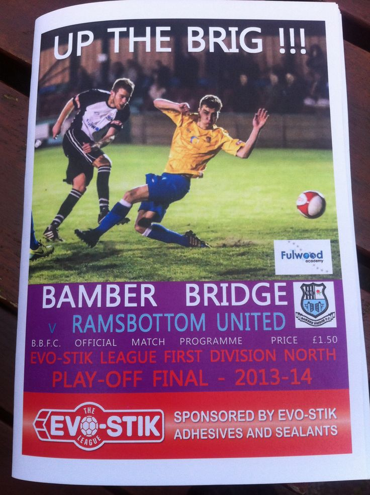 Bamber Bridge v Ramsbottom United EvoStik D1 North Play-Off final